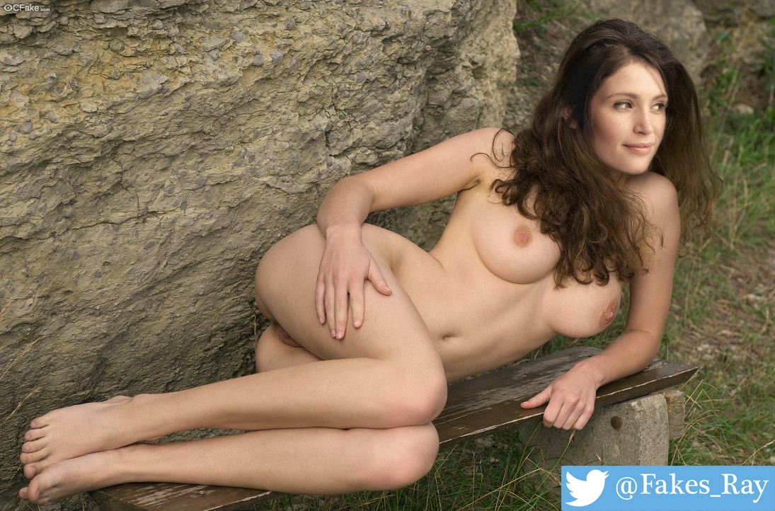 Gemma Arterton naked outdoor photoshoot without clothes